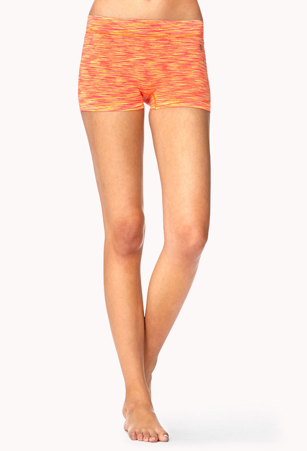 Forever 21 Space-Dye Workout Shorts