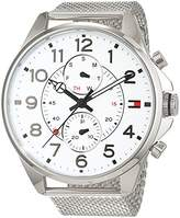 Tommy Hilfiger Mens Quartz Watch, multi dial Display and Stainless Steel Strap 1791277
