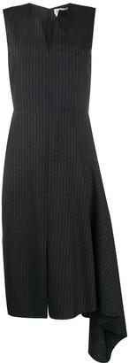 Alexander McQueen Pinstripe Draped Dress