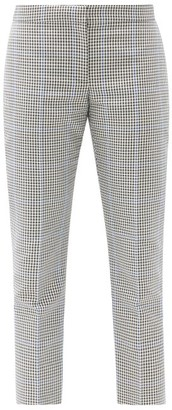 Alexander McQueen Prince Of Wales-check Cropped Trousers - Grey Multi