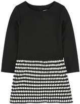 Lili Gaufrette Bi-colored milano jersey dress