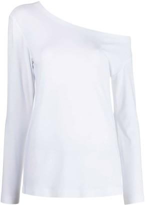 Norma Kamali Drop Shoulder Jersey Top