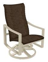 Sonora Tropitone Kenzo Swivel Patio Dining Chair Tropitone Frame Color