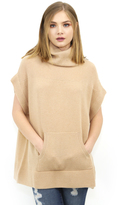 Minnie Rose Turtleneck Poncho in Camel