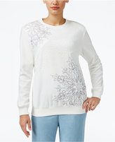 Alfred Dunner Northern Lights Studded Sweatshirt