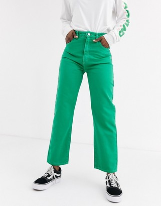 Abrand Venice straight leg coloured jeans