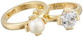 Cole Haan Cream Stack Ring Set
