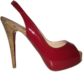 Christian Louboutin So Private 120 red patent cork heels