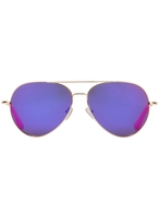 Matthew Williamson Purple Aviator Sunglasses