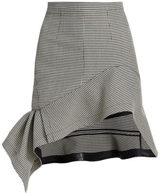 Alexander Wang Deconstructed Houndstooth Mini Skirt