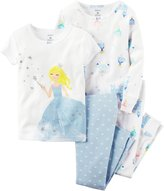 "Carter's Little Girls' Toddler ""Fairytale Dreams"" 4-Piece Pajamas"
