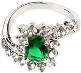 Efitty Women Wedding Engagement Ring Crystal Jewelry Size 5-10 Fashion Rings
