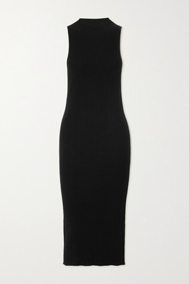 Ninety Percent Ribbed Tencel-blend Midi Dress - Black