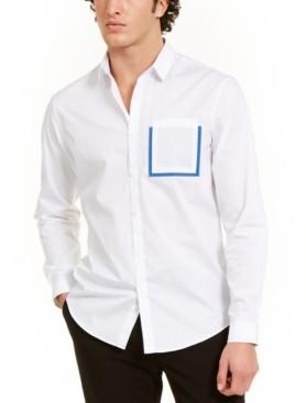 INC International Concepts Inc Men's Contrast Pocket Shirt, Created for Macy's