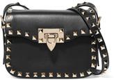Valentino The Rockstud Leather Shoulder Bag - Black