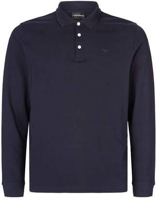 Emporio Armani Logo Long-Sleeved Polo Shirt
