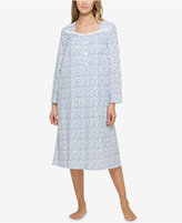Eileen West Lace-Trimmed Printed Nightgown