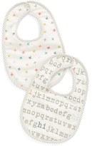 Infant Petit Pehr 'Alphabet & Stripes' Bibs