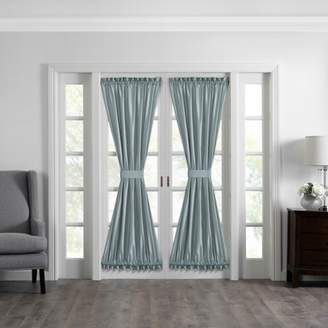 """Elrene Home Fashions Colette Faux Silk French Door Window Panel - 54"""" x 72"""""""