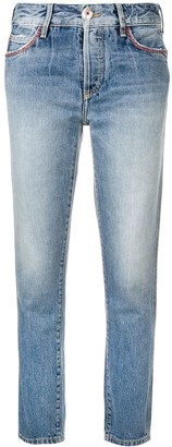 Alanui embroidered pocket skinny jeans