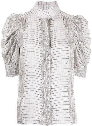 Frame Gillian snakeskin print shirt