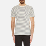 Folk Men's Striped TShirt - Ecru Navy