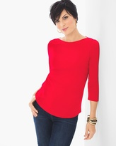 Chico's Bailey Boatneck Top