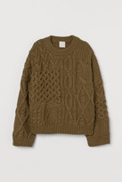 H&M Cable-knit Sweater - Green