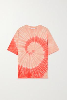 Ninety Percent Net Sustain Oversized Tie-dyed Organic Cotton-jersey T-shirt - Orange