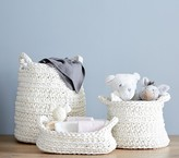 Pottery Barn Kids Chunky Knit Changing Table Storage, Ivory
