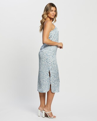 Only Women's Blue Midi Dresses - Maaria Dress - Size One Size, 38 at The Iconic