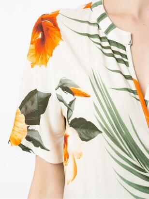 OSKLEN tie Hibisco light dress