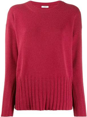 Peserico ribbed knit detail sweater
