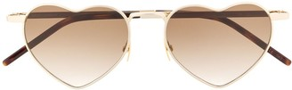 Saint Laurent Eyewear Loulou heart-frame sunglasses