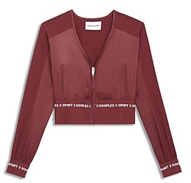 The Kooples Cropped Track Jacket