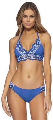 Becca by Rebecca Virtue Delilah Avery American Tab Side Bottoms (Blue Dazzle) Women's Swimwear