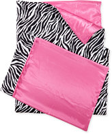 Swankie Blankie Zebra-Print Sleeping Bag & Pillowcase Set