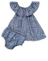 Splendid Baby's Line & Dot-Print Dress & Bloomers Set