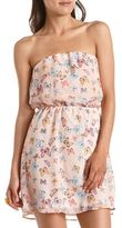 Charlotte Russe Butterfly Print Chiffon Tube Dress