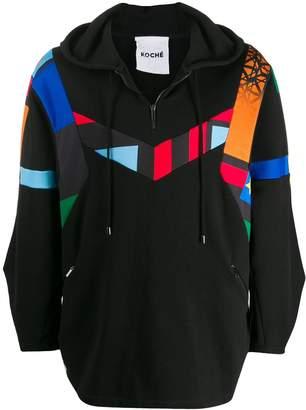 Koché patchwork printed hoodie