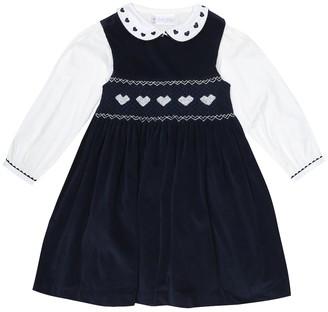 Rachel Riley Cotton and velvet blouse and dress set