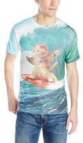 Goodie Two Sleeves Men's Surfs Up Pizza Cat T-Shirt