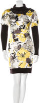 Philosophy di Alberta Ferretti Floral Turtleneck Dress