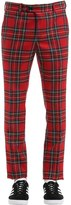 Danilo Paura Skinny Wool Plaid Pants