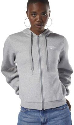 Reebok Classics Women's Fleece Full Zip Sweater