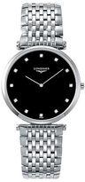 Longines 0.081 TCW Diamond Stainless Steel Bracelet Watch