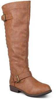 Brinley Co. Womens Studded Knee-High Riding Boot