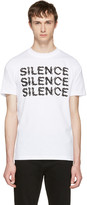 McQ by Alexander McQueen White silence T-shirt