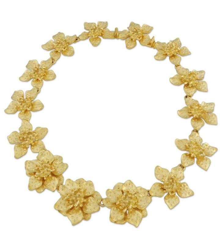 Kenneth Jay Lane Dogwood Flower Necklace