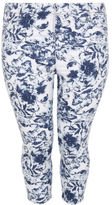 Yours Clothing YoursClothing Plus Size Womens Ladies Bottom Floral Print Jeggings